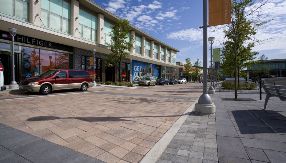 Shops at Don Mills, Toronto ON <br> Product: Umbriano®, Il Campo® Color: Summer Rose, Midnight Sky, Granite Blend