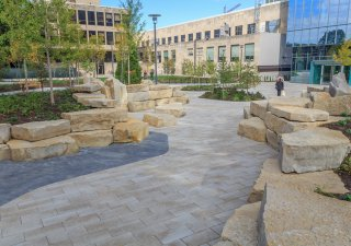 University of Chicago North Science Quad, Chicago Illinois <br> Product: Umbriano® Color: Winter Marvel